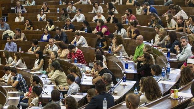 Foto de archivo de una convocatoria de oposiciones de la administración pública.