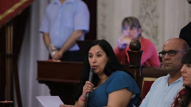 La portavoz de Podemos en el Ayuntamiento, Ana Fernández.