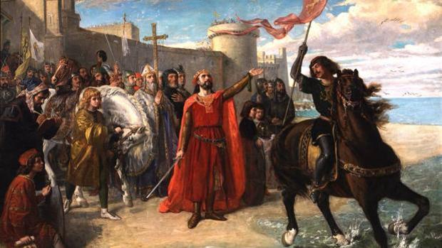 Óleo de Matías Moreno, que recoge la Reconquista de Cádiz.