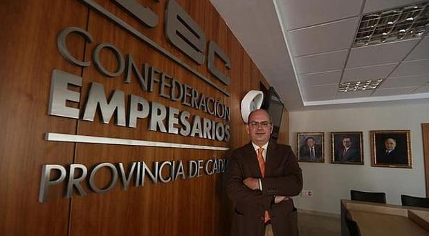 Javier Sánchez Rojas es el presidente de los empresarios gaditanos.