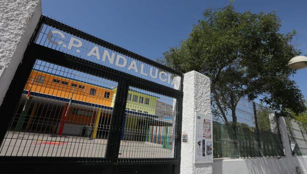 Las dependencias del colegio Andalucía de la capital gaditana, que sufre las altas temperaturas de estos días