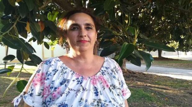 Ángela Aguilera tras un acto pasado en Cádiz.