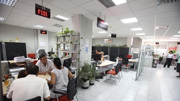 Imagen de archivo de una oficina de empleo.