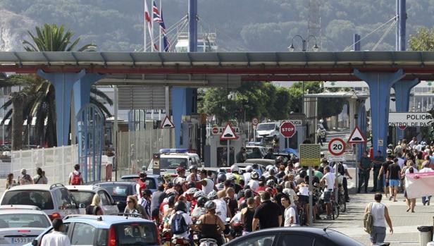 Imagen de la entrada a Gibraltar.