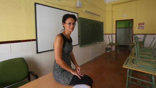 Isabel Fernández, en el IES Columela de Cádiz.