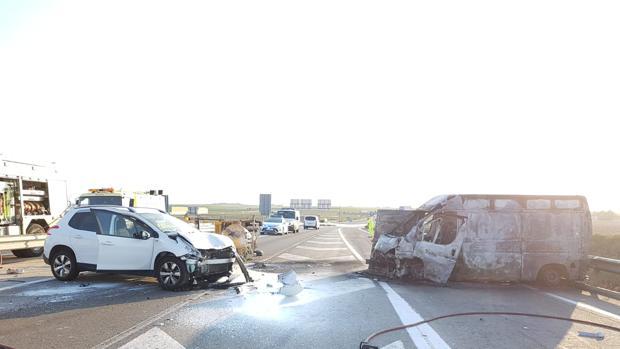 Imagen de la escena tras el accidente.