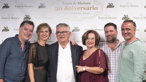 La familia Bey -Torrecilla, fundadores del grupo de restauración.