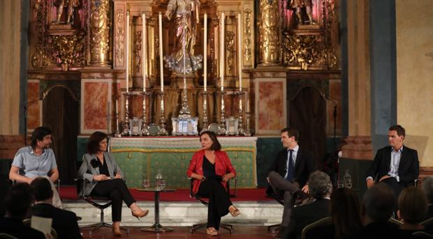 De izquierda a derecha: Maroral, Calvo, Bueno, Casado y Rivera.