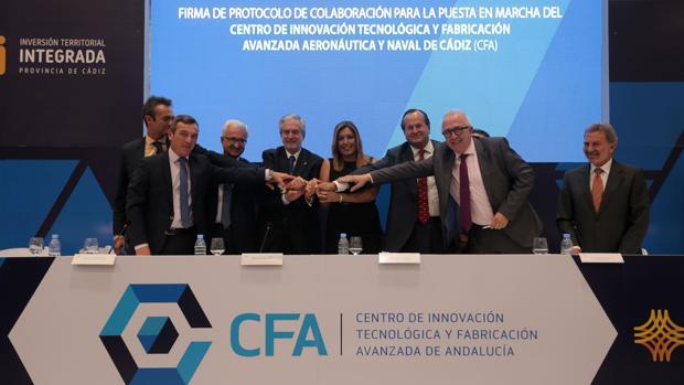 Anuncio el 27 de septiembre de 2016 del CFA en la factoría de Airbus de Puerto Real