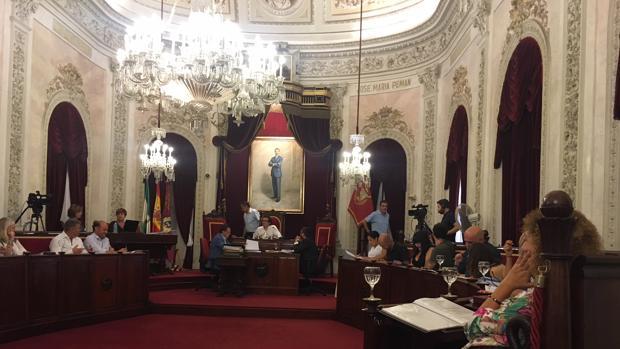 Momento del pleno ordinario que se celebra este viernes en el Ayuntamiento.
