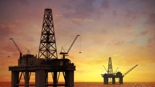 Plataformas de Maersk para la extracción de gas en el Mar del Norte