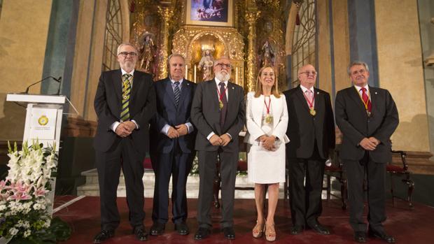 Ana Pastor, con representantes del Consejo Andaluz.