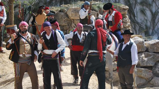 Los bandoleros de la sierra de Grazalema, en plena recreación.
