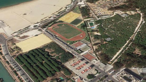 Vista aérea de los terrenos de La Puntilla.