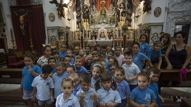 Cientos de escolares han pasado esta semana por el santuario
