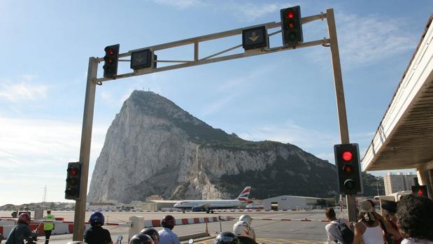 El aeropuerto de Gibraltar.