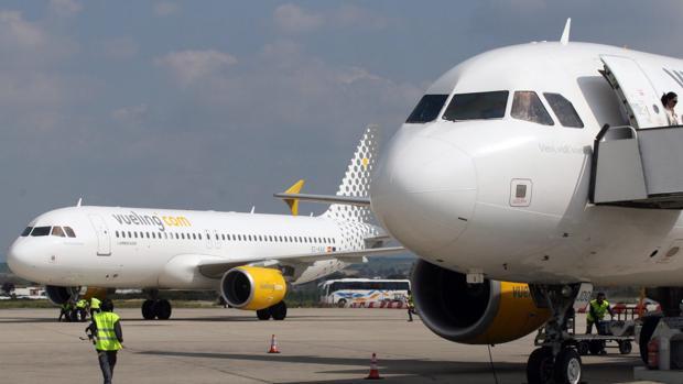 Actividad en las pistas del aeropuerto de Jerez
