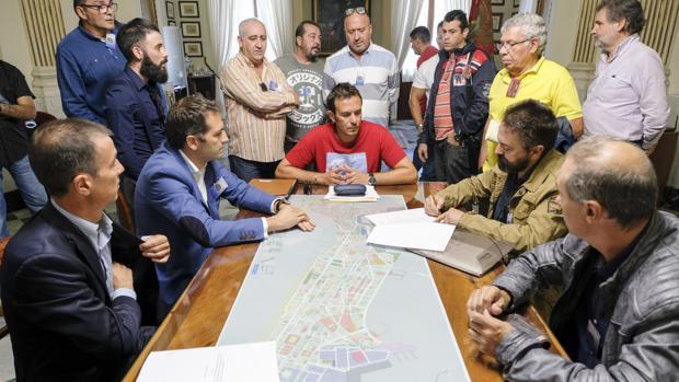 En la mañana de ayer se vivieron momentos de tensión durante la firma en el despacho de Alcaldía.