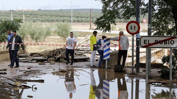 La Diputación reconstruirá los dos puentes afectados por el temporal de El Rubio con Estepa y Marinaleda