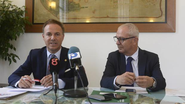De La Encina y Belizón tras su encuentro del pasado 10 de octubre.