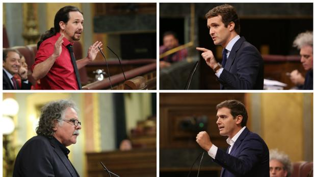 Iglesias, Casado, Tardá y Rivera se han pronunciado sobre la crisis de las corbetas.
