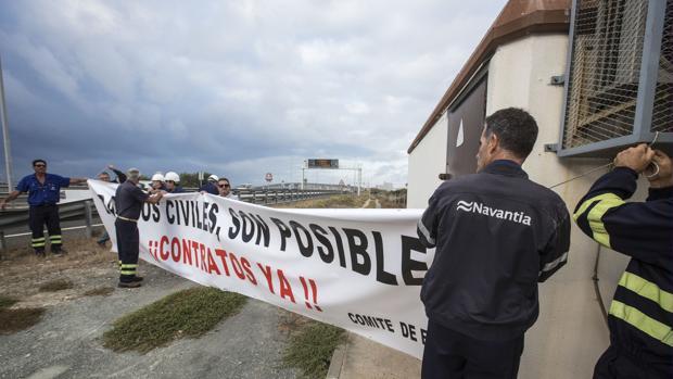 La plantilla de Puerto Real ya realizó el pasado 10 de octubre una protesta simbólica