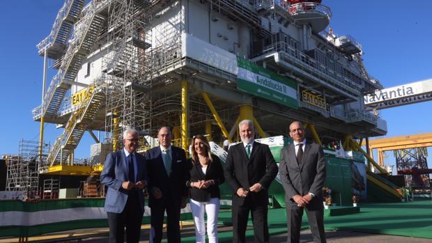 Acto de entrega de la subestación 'Andalucía II' el pasado julio en Puerto Real