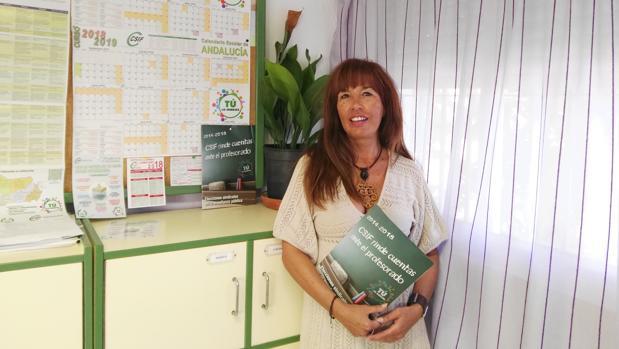 La responsable de Educación de Csif en Cádiz, Marian Avancino.