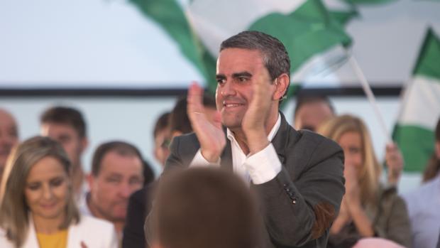 José Ortiz, en la presentación de la candidatura andaluza de Juanma Moreno.