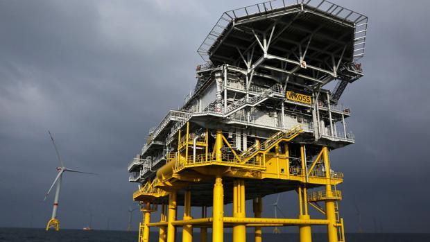 Imagen de la subestación 'Andalucía I' en el complejo eólico-marino alemán Wikinger, que se inaugura este lunes