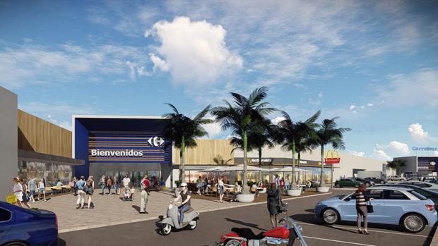 Imagen de cómo será el centro comercial tras su modernización.