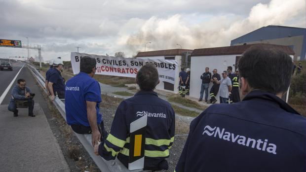 Última protesta de la plantilla de Puerto Real