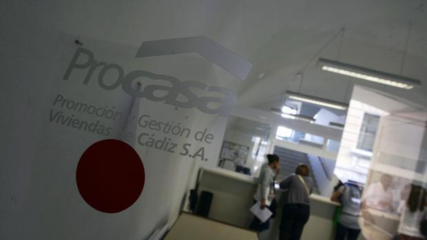 Imagem de una de las oficinas de Procasa en Cádiz. :: LA VOZ