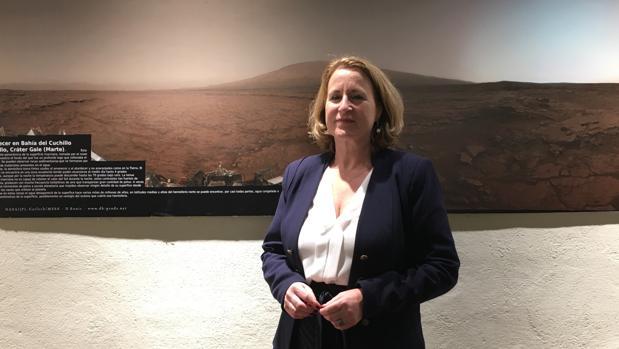 Teresa Cruz, directora general de la Fundación Descubre, en la Semana de la Ciencia en Los Toruños