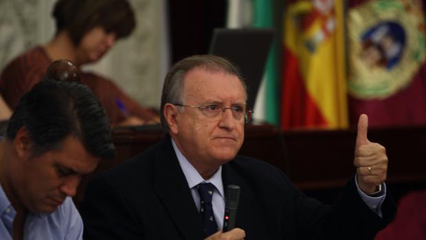 José Blas Fernández, en un pleno del Ayuntamiento.