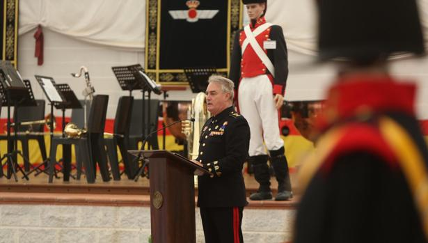 El Subdelegado de Defensa en Cádiz, el Coronel de Infantería de Marina, Joaquín Tomás González Fernández, presidió el acto.