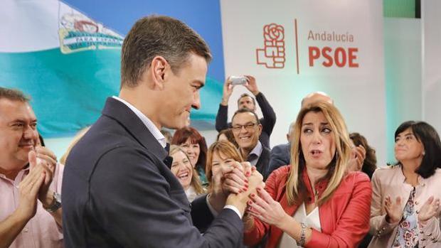 Pedro Sánchez apoyará a Susana Díaz en sólo dos actos, en Cádiz y en Málaga.