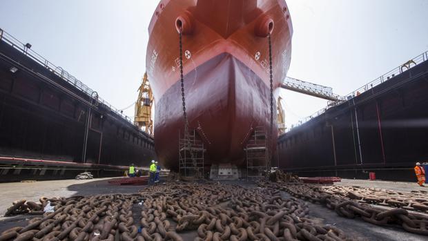 El astillero de Cádiz es el referente en la reparación y mantenimiento de barcos