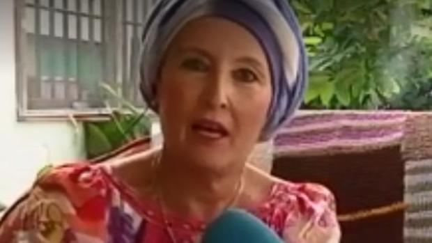 Tina Fuertes, en una entrevista en Telecinco