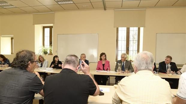 Primera reunión con la nueva presidenta de Navantia, Susana Sarriá, celebrada el pasado septiembre