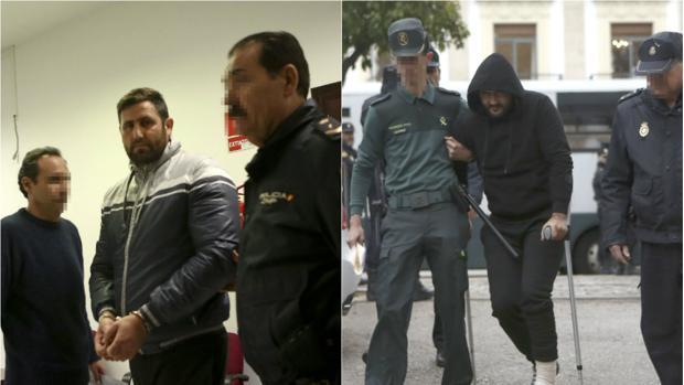 Pedro (izquierda) y Jorge (derecha), durante el juicio por el caso de Juan Cadenas en la Audiencia.