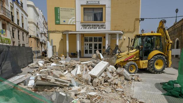 Obras de mantenimiento, el pasado curso, en el Celestino Mutis.