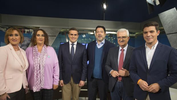 Los candidatos de PSOE, PP, Ciudadanos y Adelante Andalucía participaron ayer en el debate electoral de Canal Sur.