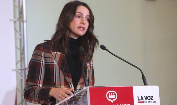 Inés Arrimadas durante su intervención en el Foro de LA VOZ.