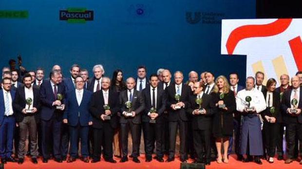 Los premiados, en el acto que se celebró en León