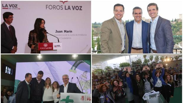 Los líderes nacionales del PSOE, PP y Ciudadanos han arropado a sus candidatos en la provincia durante la campaña.