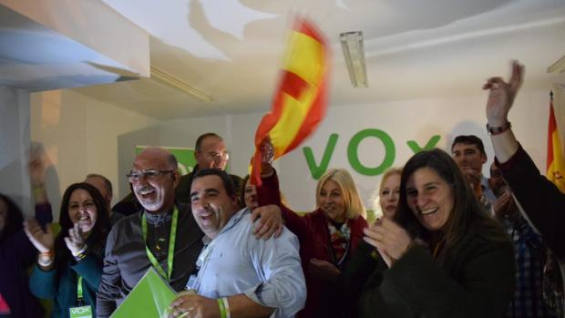 Celebración en la sede de VOX de San Fernando su ascenso en la provincia