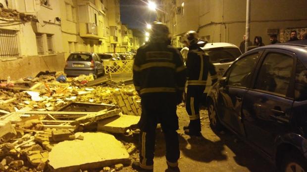Estado de la calle tras el suceso