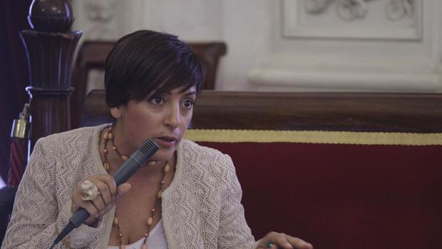 Marta Meléndez, en un pleno cuando aún era concejal del Ayuntamiento.