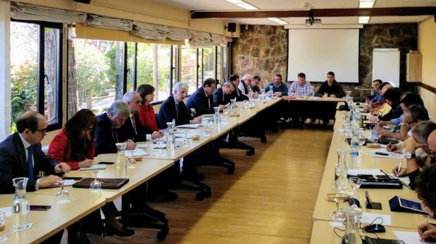 Reunión mantenida el pasado martes en Madrid entre Navantia y los sindicatos